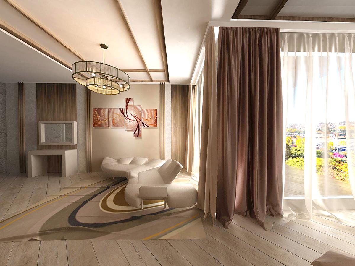 дизайн спальни в современным стиле