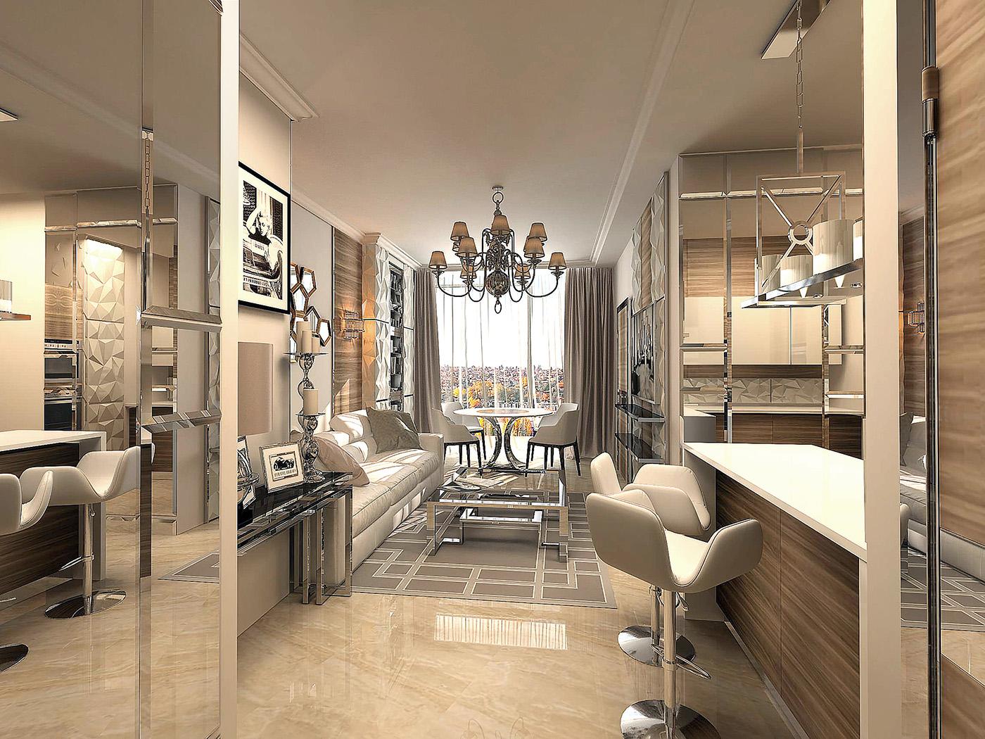Дизайн гостиной ЖК 1147