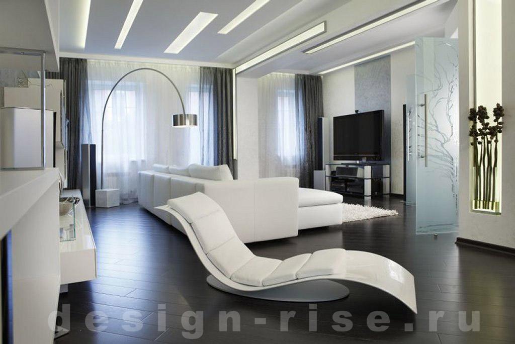 дизайн гостиной хай-тек