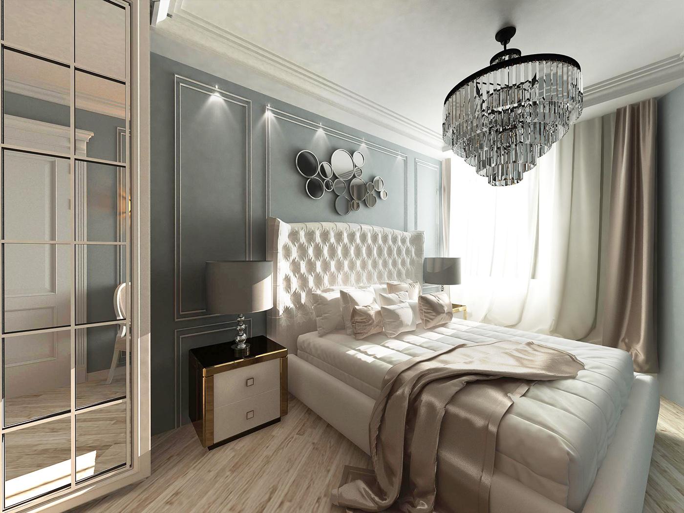 дизайн спальни ар-деко