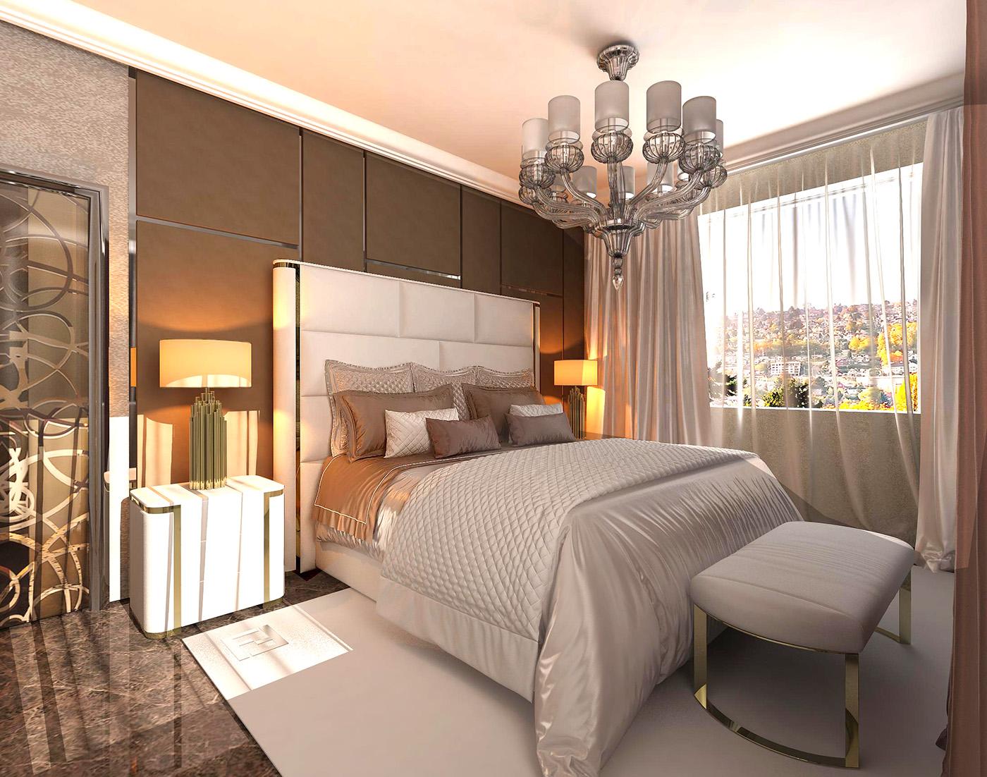 дизайн спальни Fendi